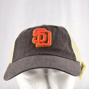 San Diego Padres Trucker-Style Tan/Brown Baseball